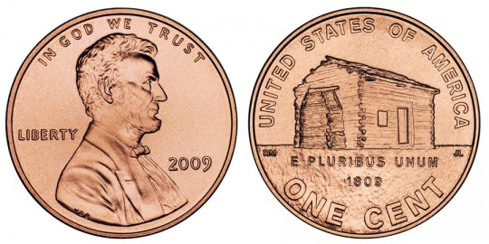 2009 Lincoln Cent Birthplace - click on image to enlarge
