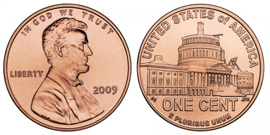 2009 Lincoln Cent Presidency - click on image to enlarge