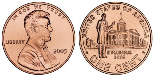 2009 Lincoln Cent Professional Life - click on image to enlarge