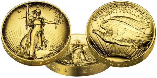 2009 Ultra High Relief Gold Coin - click on image to enlarge