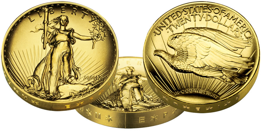 2009 Ultra High Relief Uhr Double Eagle 20 Gold Coin
