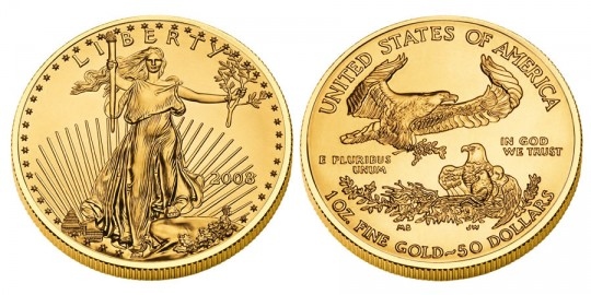 American Eagle Gold Bullion Coin - click on image to enlarge