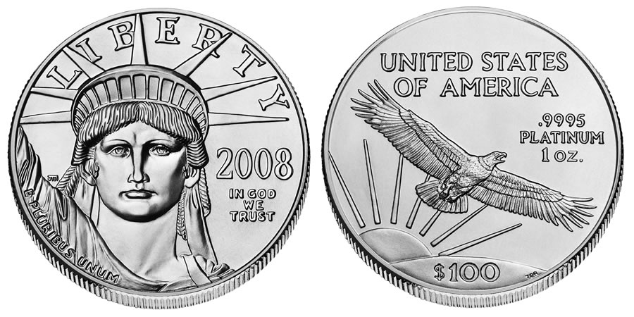 American Eagle Platinum Bullion Coin - click on image to enlarge