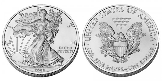 American Eagle Silver Bullion Coin - click on image to enlarge