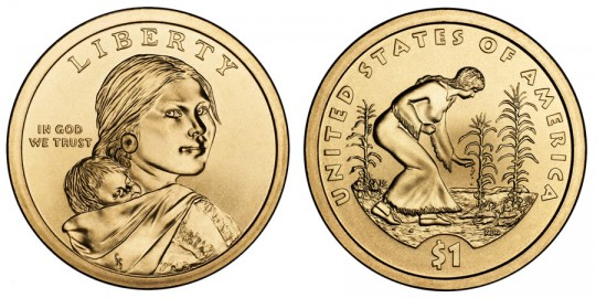 2009 Native American $1 Coin - click on image to enlarge