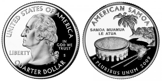 2009 American Samoa Quarter Proof - click on image to enlarge