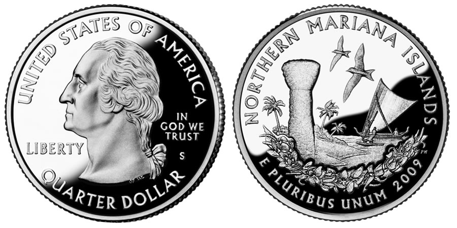 2009 S North Mariana Islands Proof Deep Cameo State Quarter Combined Shipping