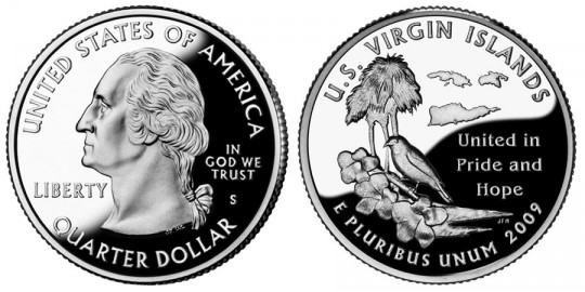 2009 US Virgin Islands Quarter Proof - click on image to enlarge