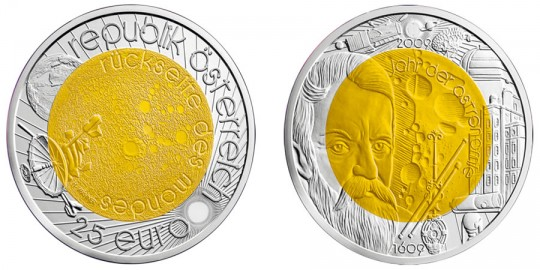 Year of Astronomy 25 Euro Coin - click on image to enlarge