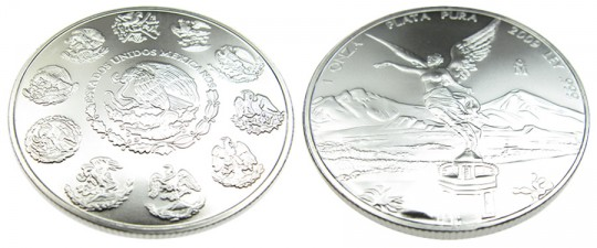 Mexican Libertad Silver Bullion Coin - click on image to enlarge