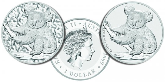 2009 Australian Koala Silver Coins - click on image to enlarge