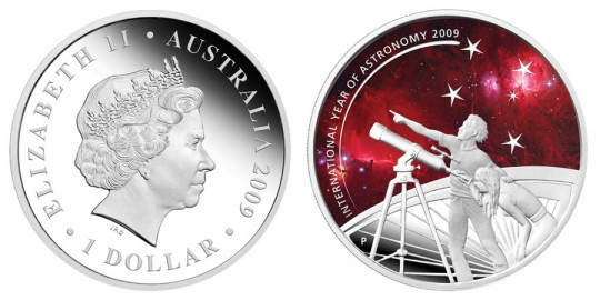 2009 International Year of Astronomy 1oz Silver Proof Coin - click on image to enlarge