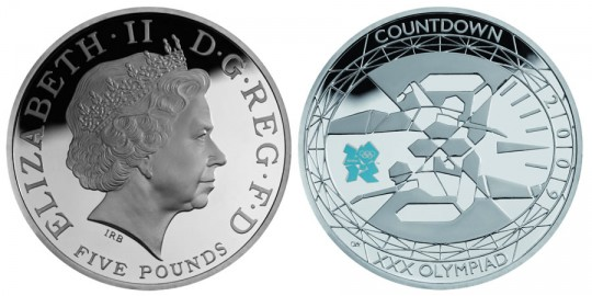 2009 Countdown to London £5 Silver Piedfort Proof Coin - click on image to enlarge