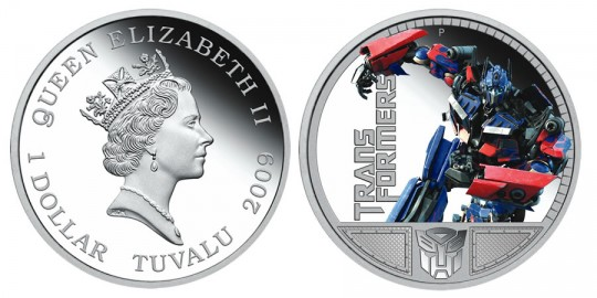 Transformers Optimus Prime 1oz Silver Proof Coin - click on image to enlarge