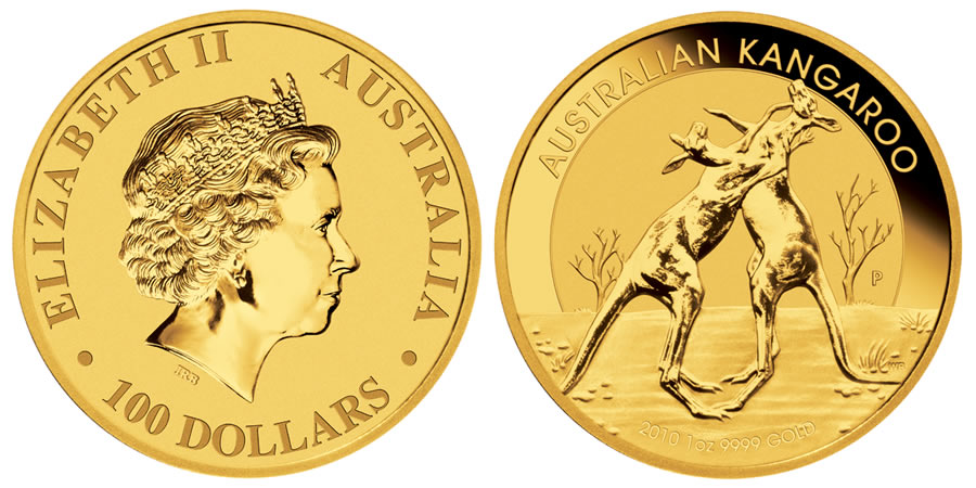 2010 Australian Kangaroo Gold Coins World Mint Coins