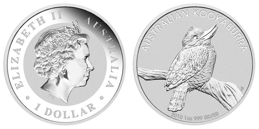 2010 Australian Kookaburra Silver Coin World Mint Coins