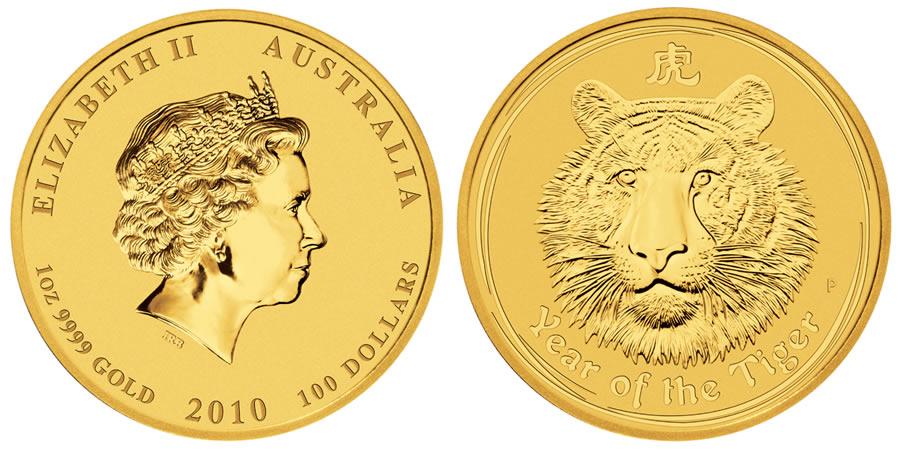 Australian Lunar Gold Coins 2010 Australian Lunar Gold