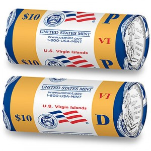 U.S. Virgin Islands quarter rolls