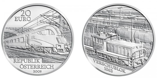 2009 Railway of the Future Silver Coin - click on image to enlarge