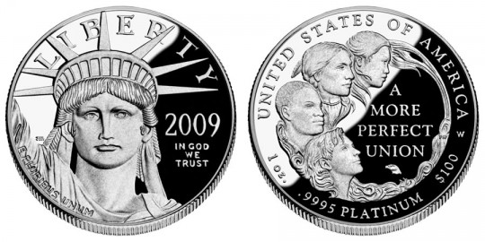 2009 American Eagle Platinum Proof Coin - Click to Enlarge