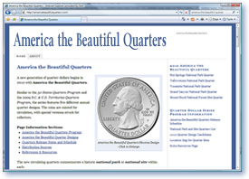 America the Beautiful Quarters Site