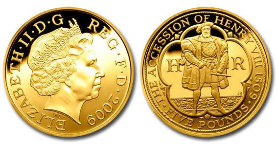 Henry VIII British Gold Proof Coin