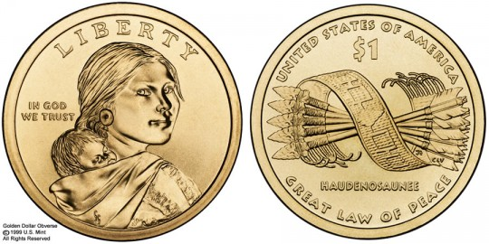 2010 Native American $1 Coin - click to enlarge