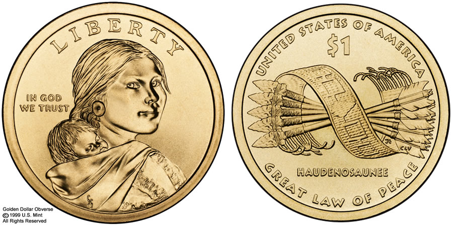 2010 Native American 1 Coin