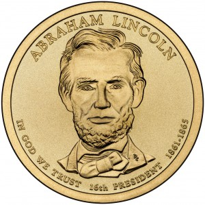 2010 Abraham Lincoln Presidential $1 Coin