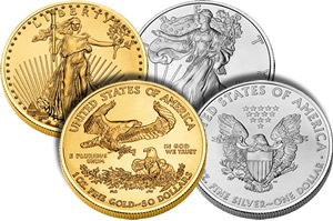US Gold and Silver Eagle Bullion Coins