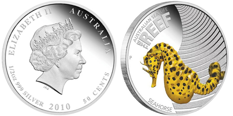 Australian 2009 50c Sea Life Leafy Sea Dragon 1//2 Oz Proof Silver Coin *LIMITED*