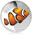 2010 Clownfish 1/2 Oz Silver Proof Coin