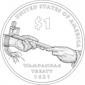 2011 Native American $1 Coin, Reverse