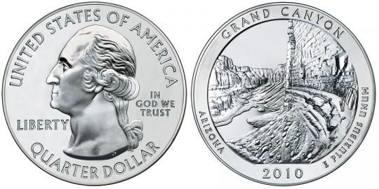 2010 Grand Canyon Silver Bullion Coin