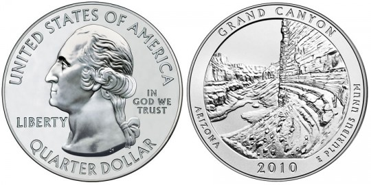 2010 Grand Canyon Silver Uncirculated Coin (US Mint images)