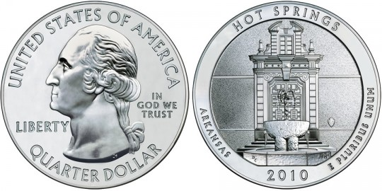 2010 Hot Springs Silver Bullion Coin