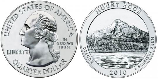 2010 Mount Hood Silver Bullion Coin