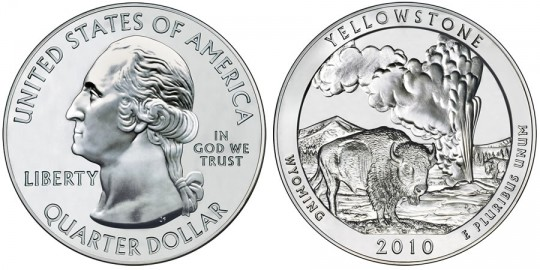 2010 Yellowstone Silver Bullion Coin
