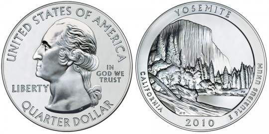 2010 Yosemite Silver Bullion Coin