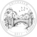 2011 Chickasaw National Recreation Area Quarter, reverse
