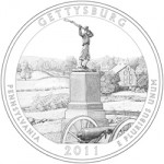 2011 Gettysburg National Military Park Quarter, reverse