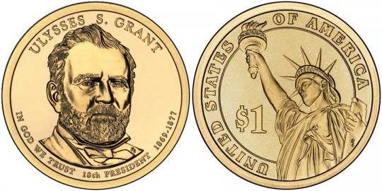 2011 Ulysses S. Grant Presidential $1 Coin (US Mint images)