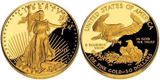 2011 American Eagle Gold Proof Coin (US Mint images)