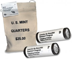 2011 Gettysburg National Military Park Quarters Bags and Rolls