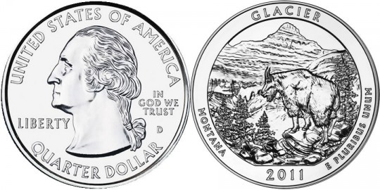 2011 Glacier America the Beautiful Silver Coin (US Mint images)