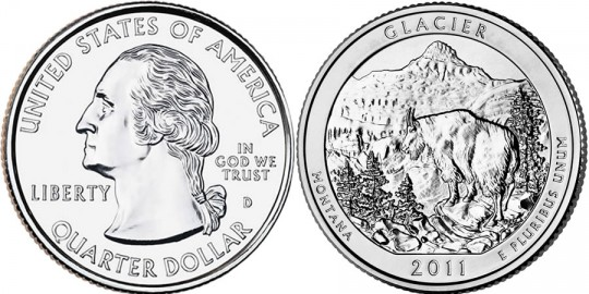 2011 Glacier National Park Quarter (US Mint images)