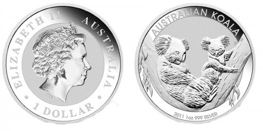 2011 Australian Koala Silver Bullion Coin World Mint Coins