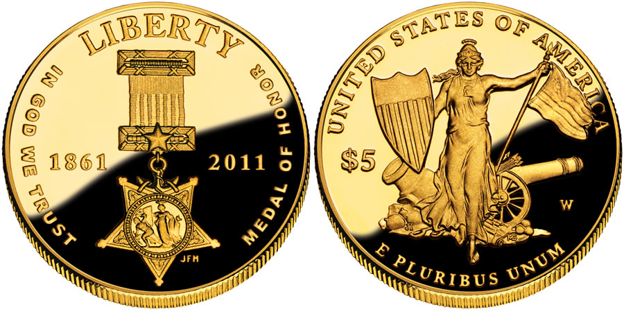 2011 Medal of Honor Commemorative $5 Gold Coin | World Mint