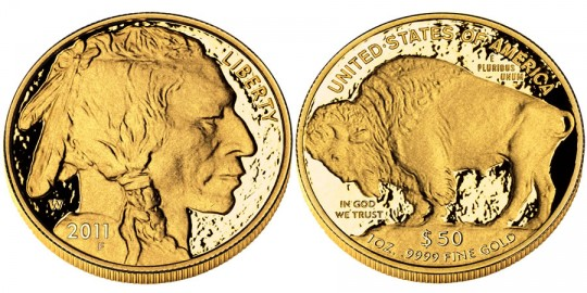 2011 America Buffalo Gold Proof Coin (US Mint images)