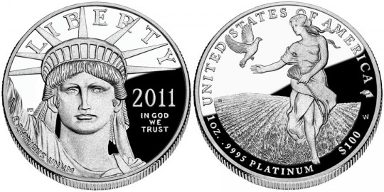 2011 American Eagle Platinum Proof Coin (US Mint images)